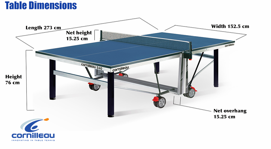 dimension table de ping pong