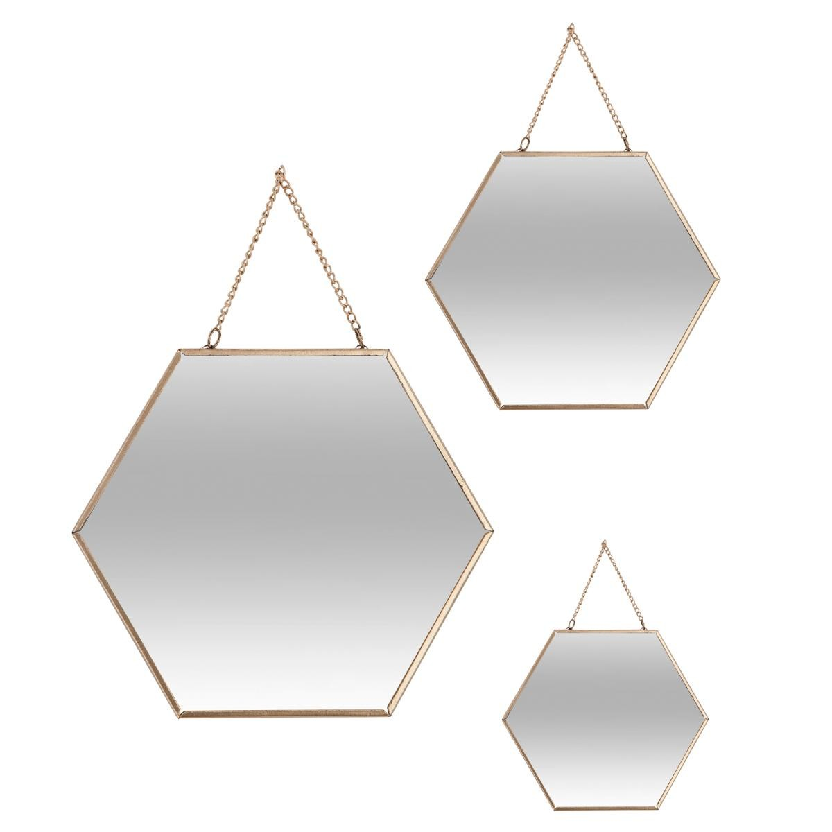 miroir hexagonal