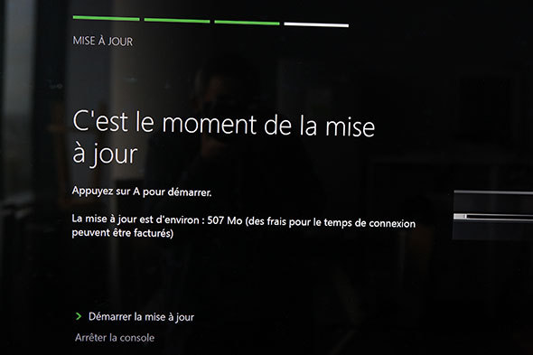 mise a jour xbox one