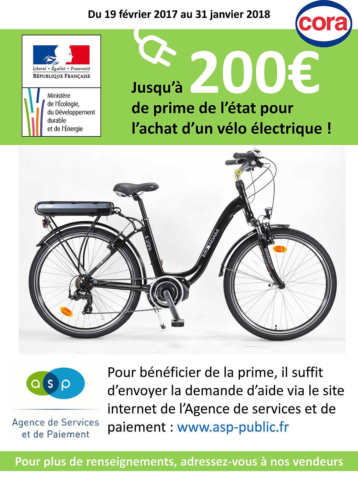prime d état vélo électrique