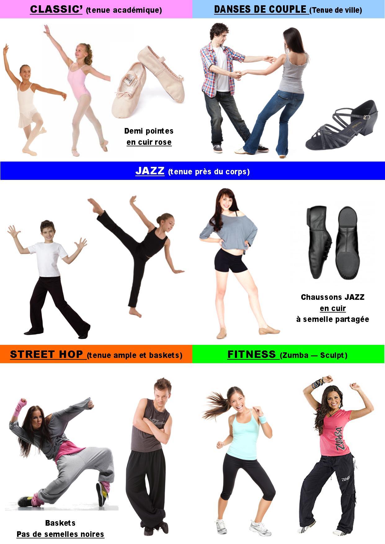tenue de danse moderne jazz