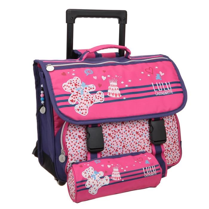 cartable fille roulette