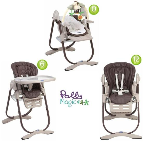 chaise haute chicco polly 3 en 1