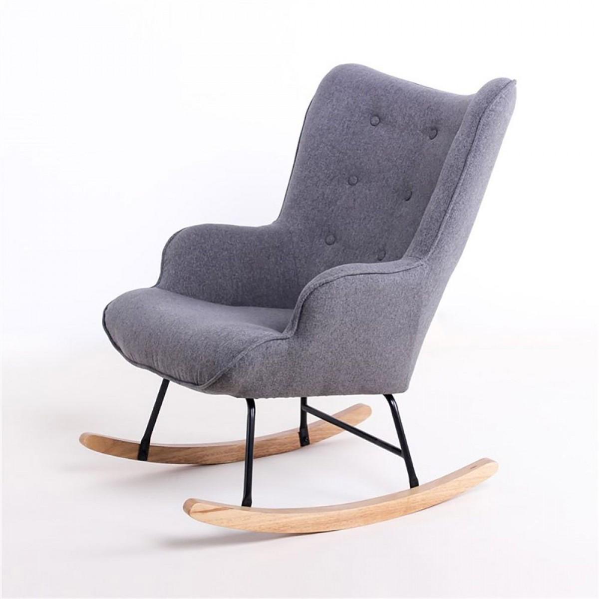 fauteuil à bascule scandinave