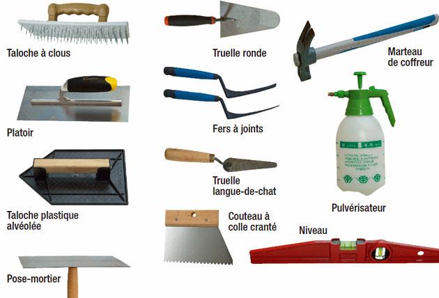 outils maçon