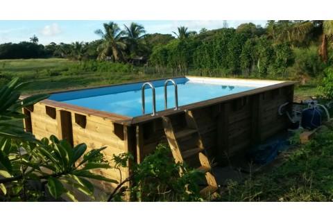 piscine bois hors sol rectangulaire