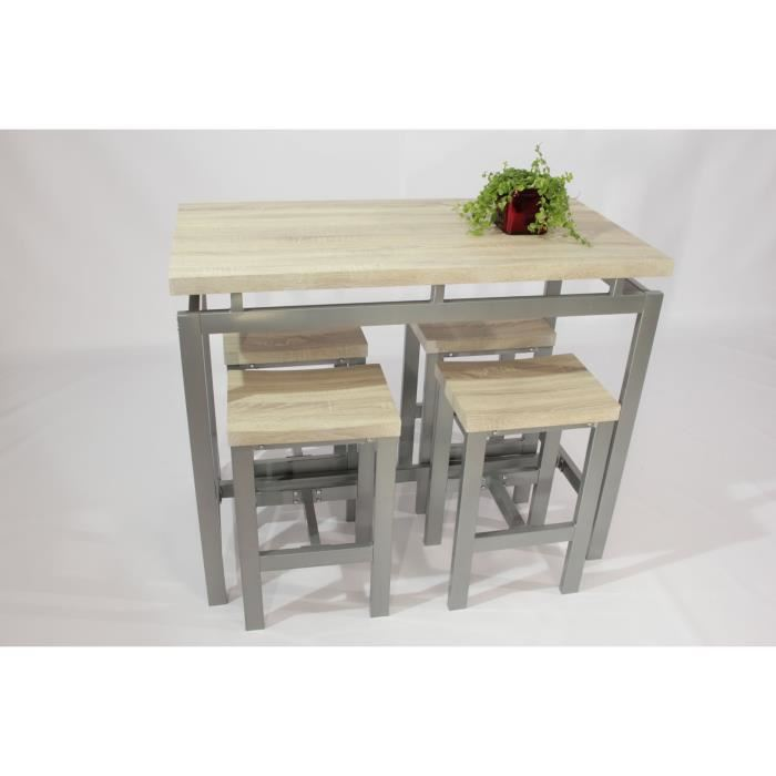 table haute avec tabouret