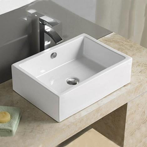 vasque rectangulaire à poser