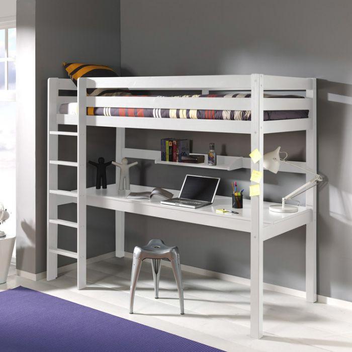 lit avec bureau intégré