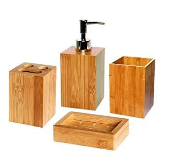accessoires salle de bain bambou
