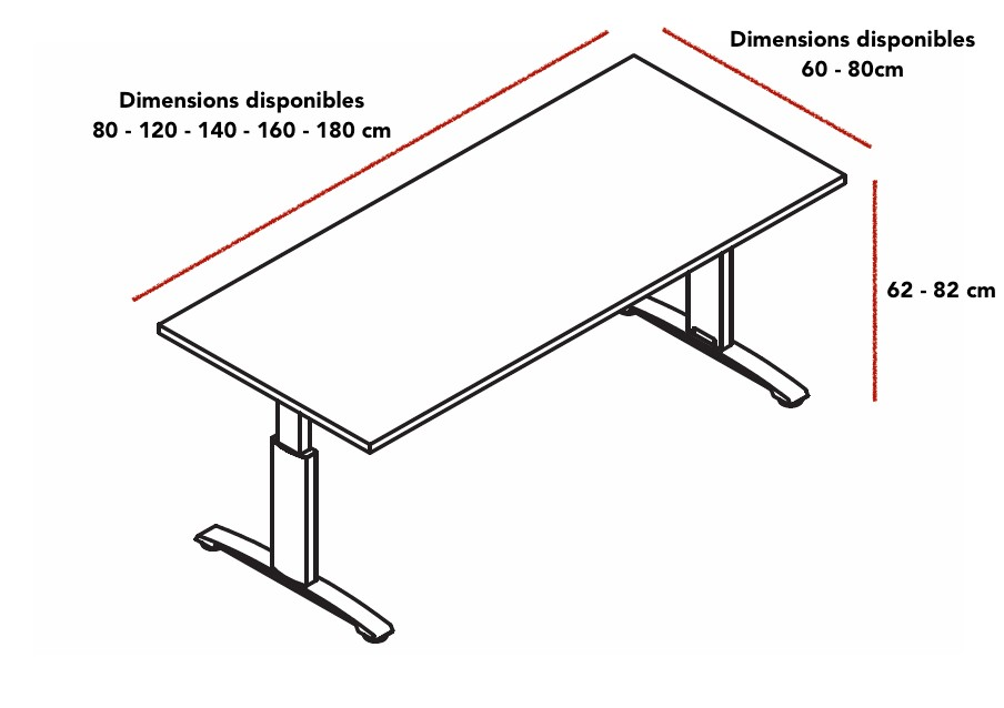 bureau dimension