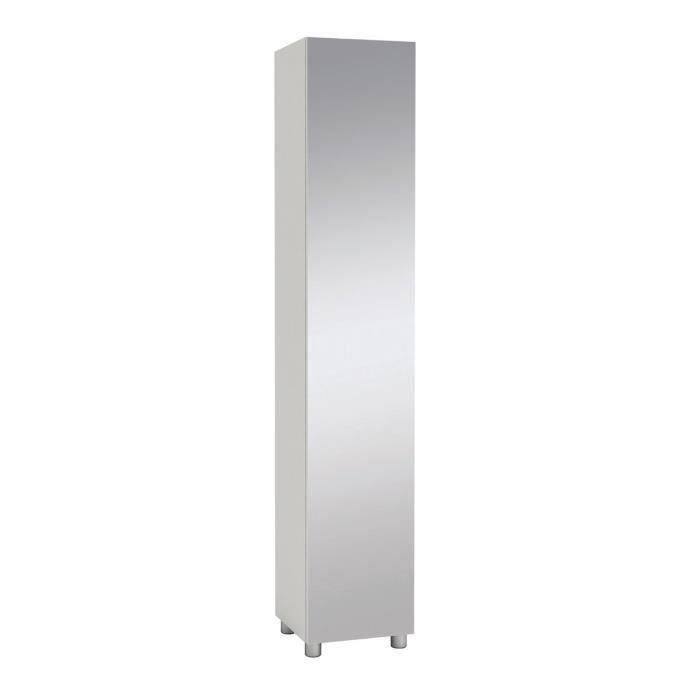 colonne salle de bain miroir