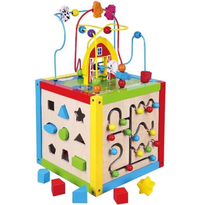 cube en bois bébé