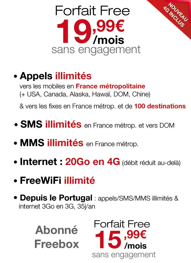 free forfait internet