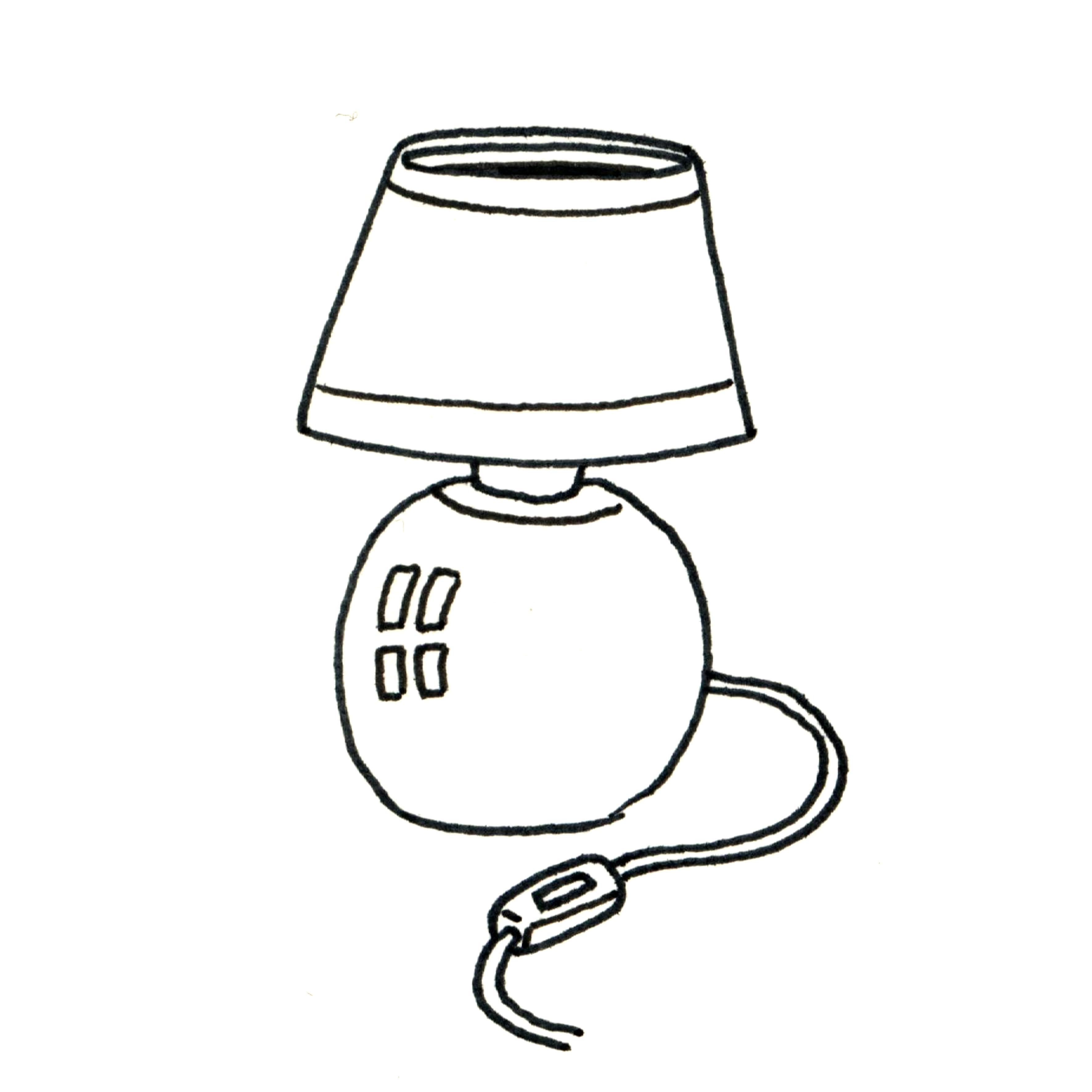 lampe dessin