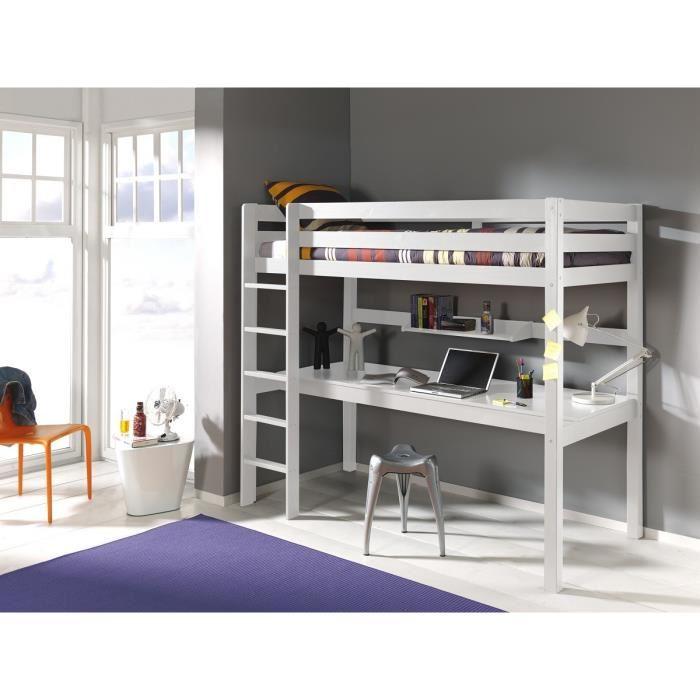 lit en hauteur avec bureau