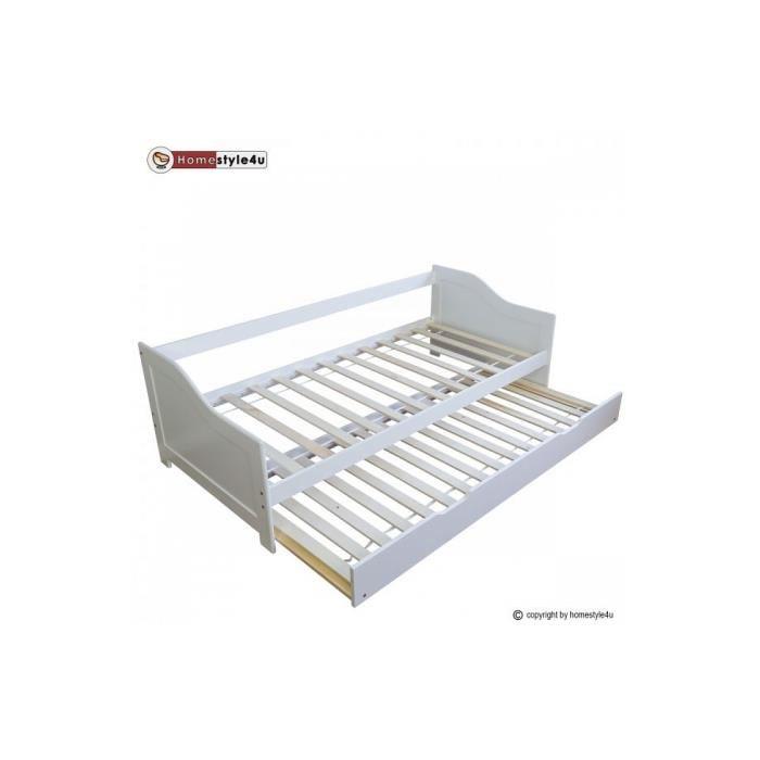 lit simple avec tiroir
