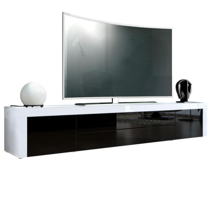 meuble tv bas blanc