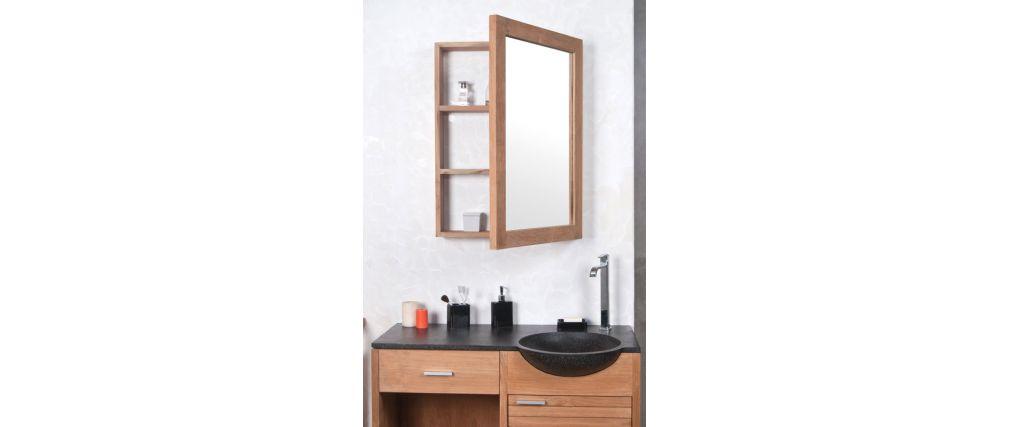 miroir avec rangement salle de bain