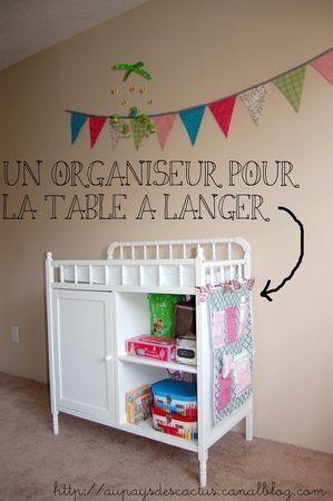 organisateur table a langer