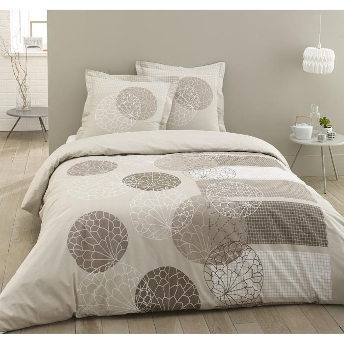 parure de lit beige