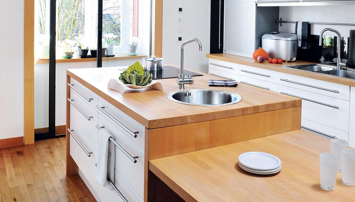 plan de travail cuisine en bois