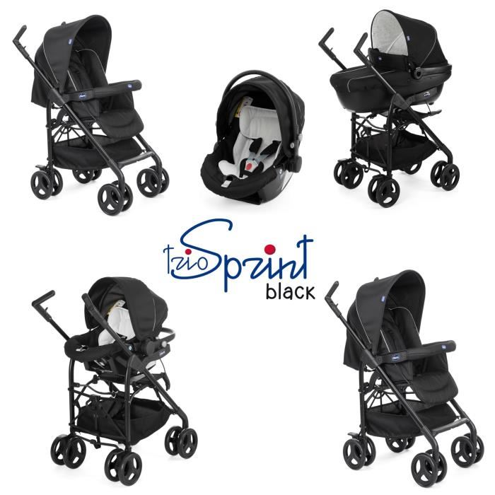 poussette chicco trio sprint black