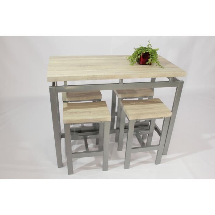 table haute et tabouret