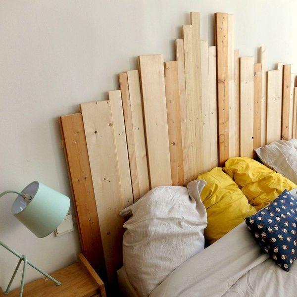 tete de lit en bois