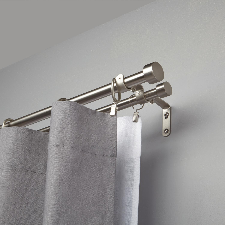 tringle à rideaux double