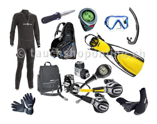 equipement de plongée