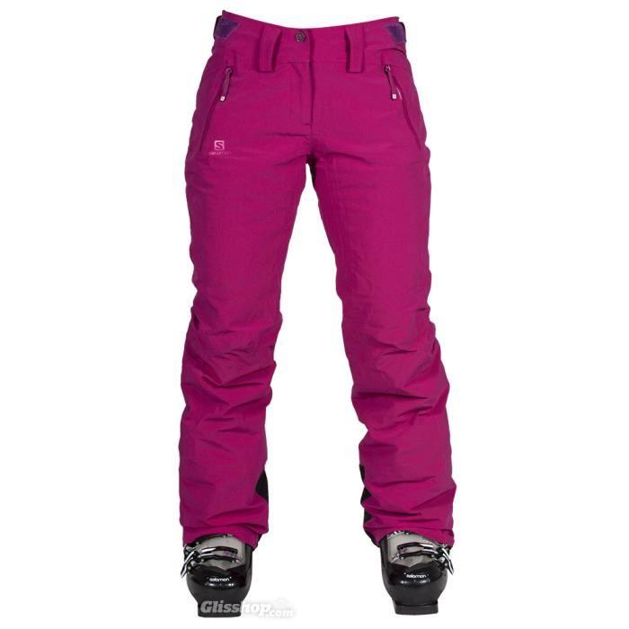 pantalon ski femme fushia